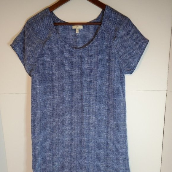 Joie silk tunic short sleeve Tshirt dress blue xs